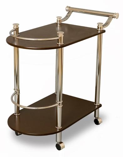 Столик сервировочный на колесиках SC 5038-WD-W Орех
