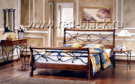 Двуспальная кровать Амбер (160х200) Майер браун