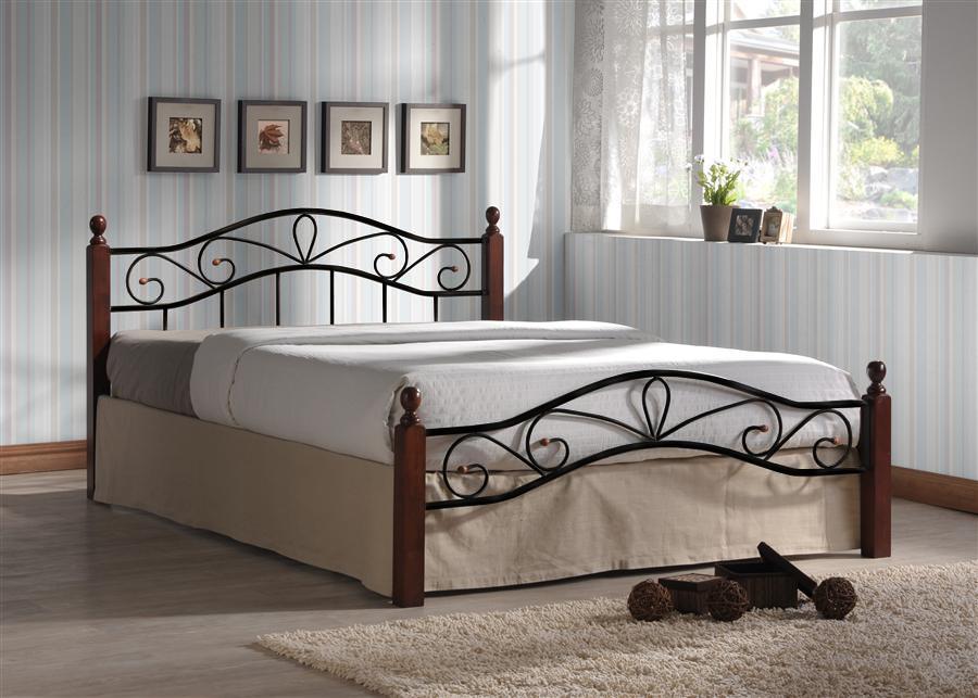 Кровать Глэдис-М (120х200/Черный металл)