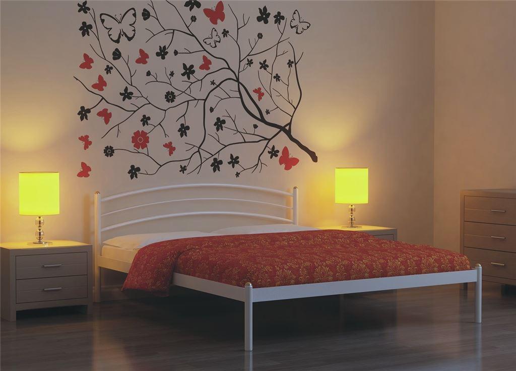 Кровать двуспальная ЭКО+ (160х200/металлическое основание) Белый