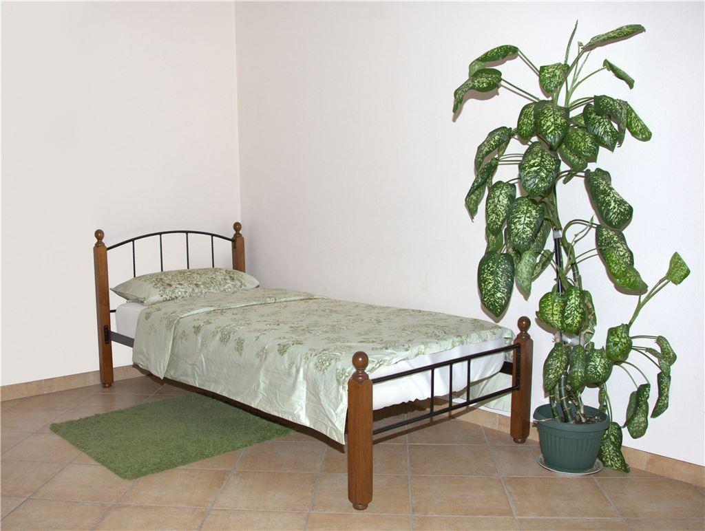 Кровать односпальная 915-М (90х200/Черный металл)