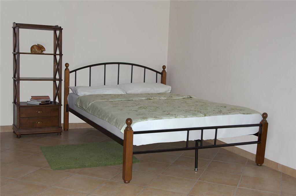 Кровать односпальная 915-М (120х200/Черный металл)