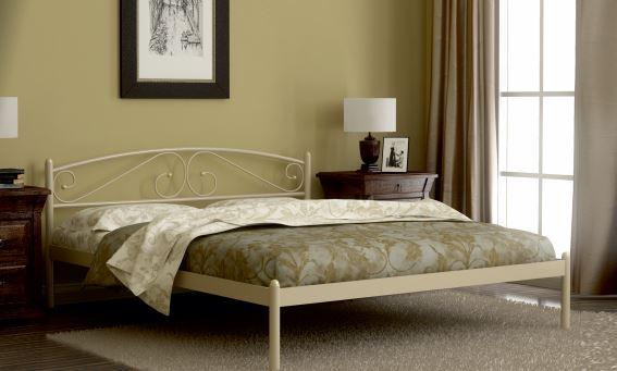 Кровать двуспальная Флоренция (160х200/металлическое основание) Бежевый