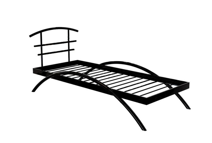 Кровать двуспальная САКУРА (90х200/металлическое основание) Коричневый бархат