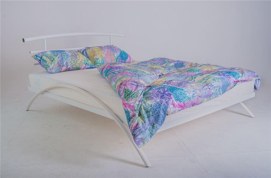 Кровать двуспальная САКУРА (140х200/металлическое основание) БЕЛЫЙ
