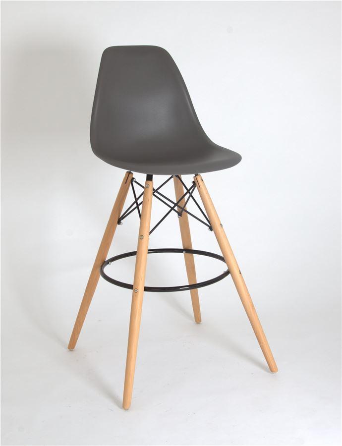 Полубарный стул 638-G/Н65 Eames (GREY 21)