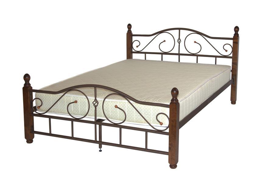 Кровать Адель-М (120х200 / Коричневый бархат)