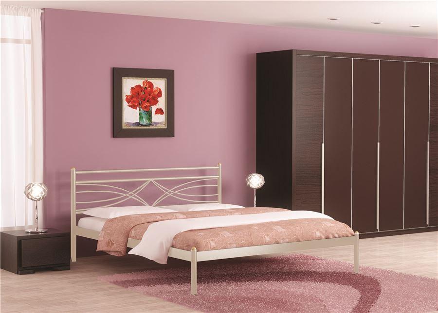 Кровать Мираж (160х200/металлическое основание) Бежевый