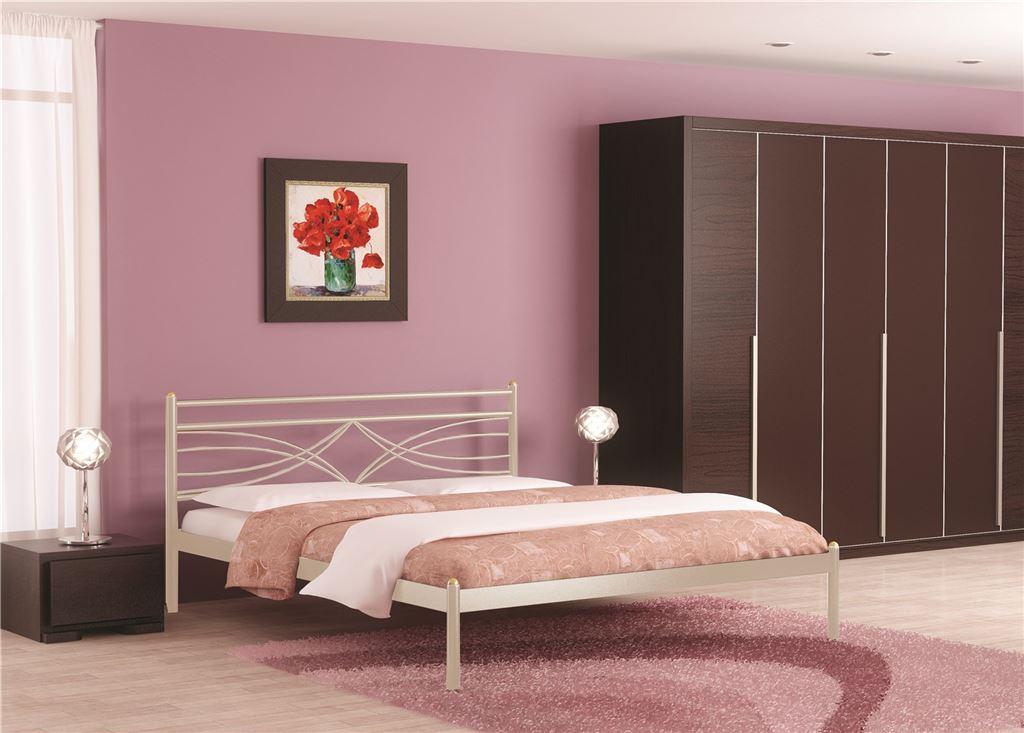 Кровать Мираж (140х200/металлическое основание) Бежевый