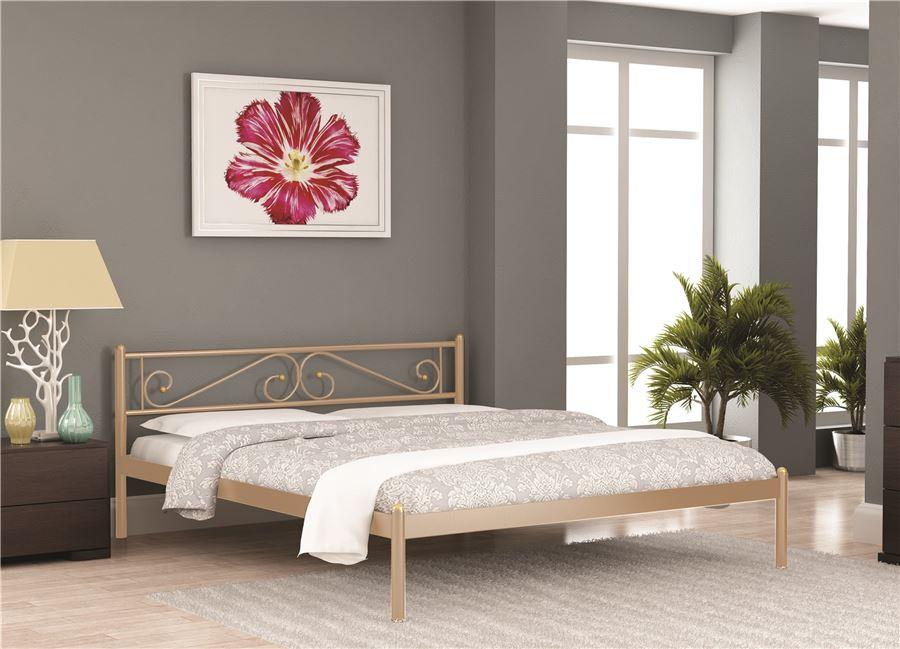 Кровать ШАРМ (140х200/металлическое основание) Бежевый