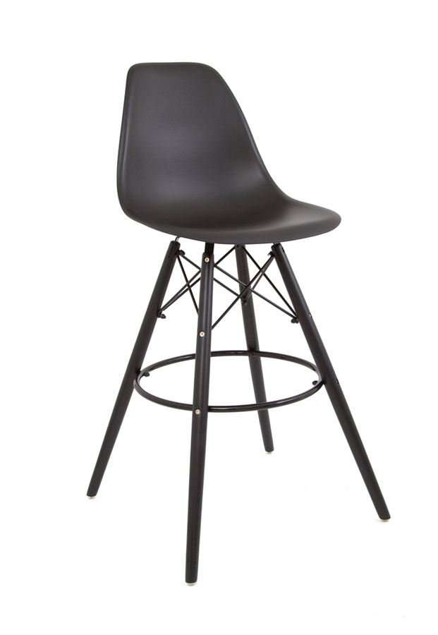 Полубарный стул 638-G/Н65 Eames (Black-04)
