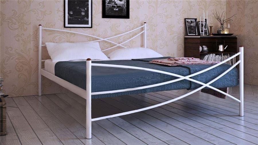 Кровать Лиана (140х200/металлическое основание) Белый