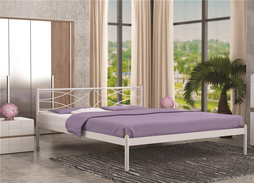 КроватьЭкзотика (140х200/цвет Белый/ металлическое основание)