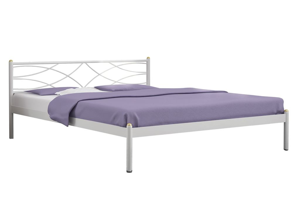 КроватьЭкзотика (160х200/цвет Белый/ металлическое основание)