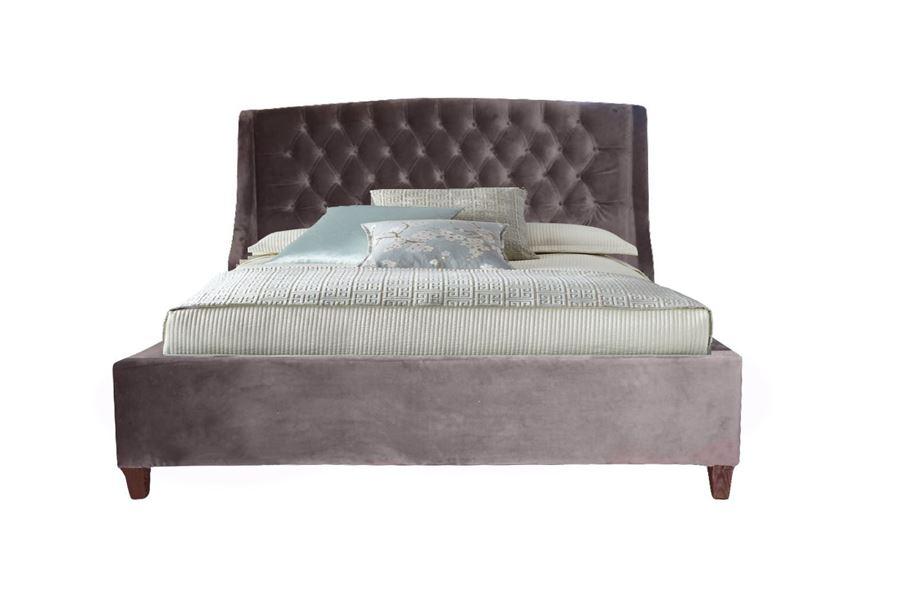 Кровать Hugo Premier11 (шоколадный велюр)  1600*2000 комплектация LUXE с подьемным механизмом