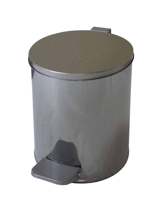 Ведро с педалью 7 литров (хром)