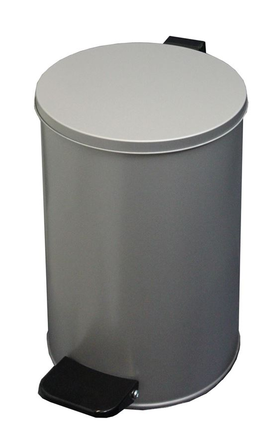 Ведро с педалью 10 литров (серый)