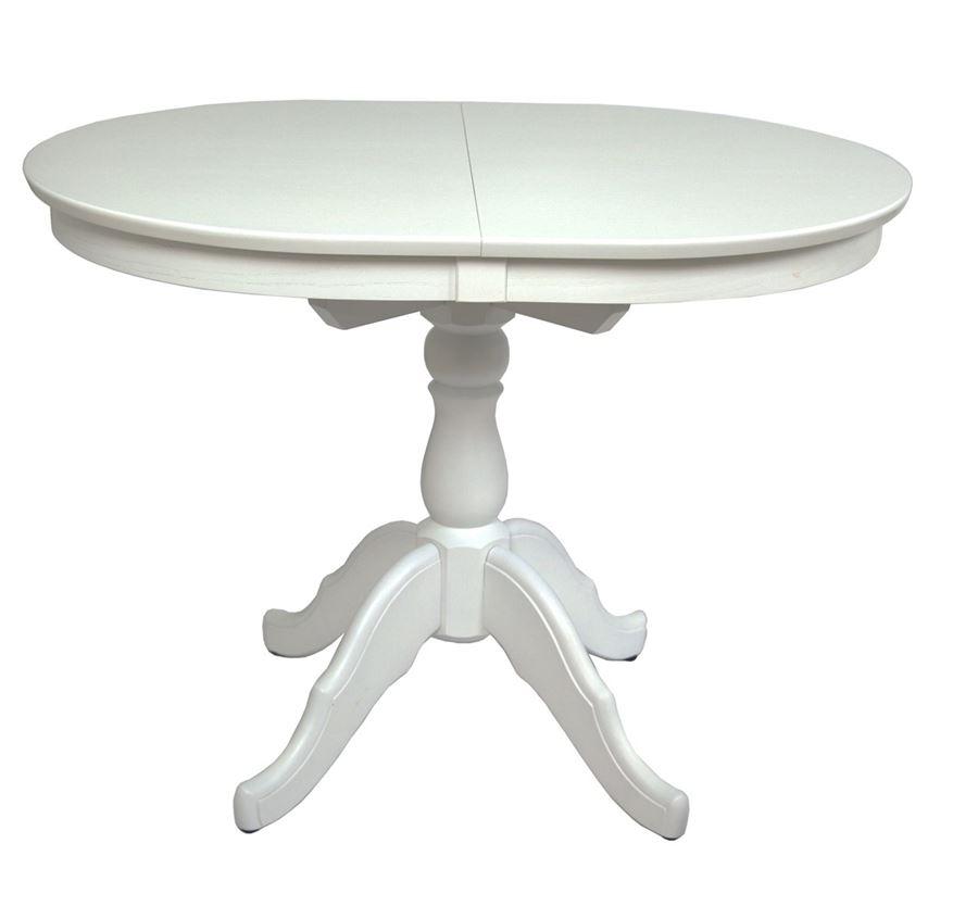 Стол обеденный Овальный-0110 (белая эмаль)