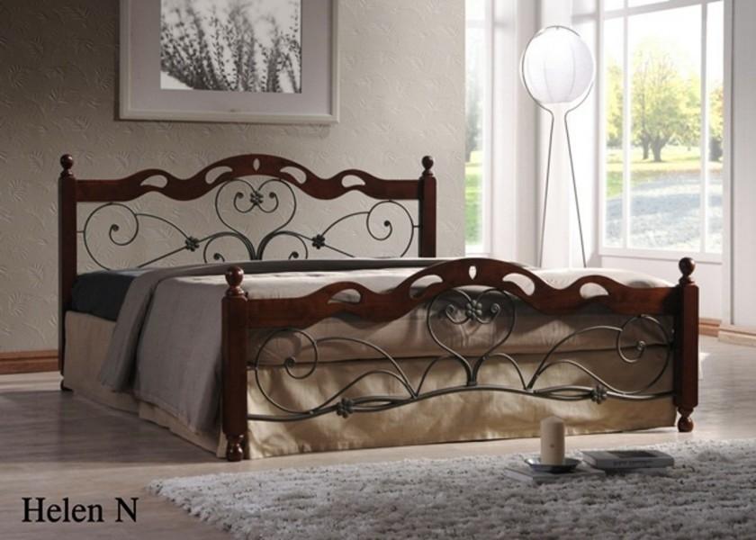 Двуспальная кровать Хелен (Helen)  (180х200) Темный орех