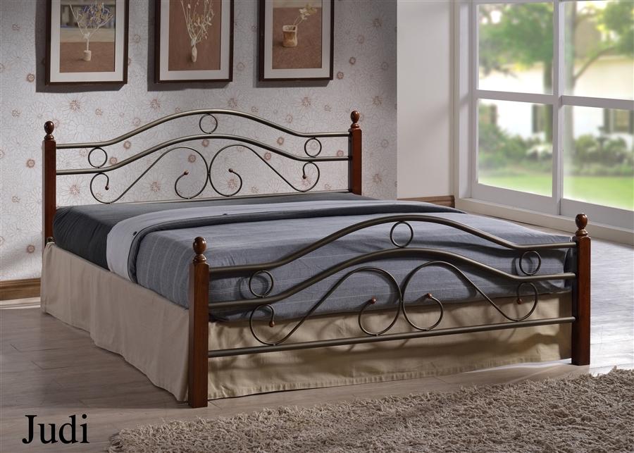 Двуспальная кровать Джуди  (Judi 803-180х200) Темный орех