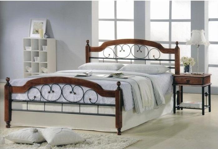 Двуспальная кровать Медея  (Medeya-160х200) Темный орех