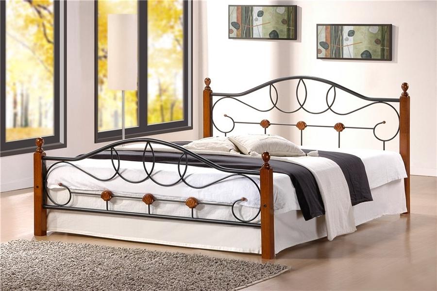 Двуспальная кровать мод. 822  (Hava-180х200) Темный орех