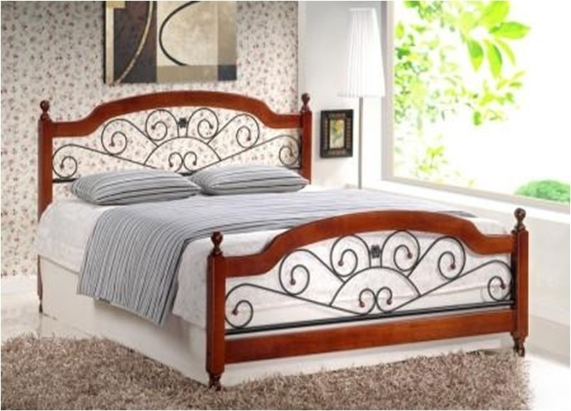 Двуспальная кровать Gul-809/At-9156 (180х200) Темный орех