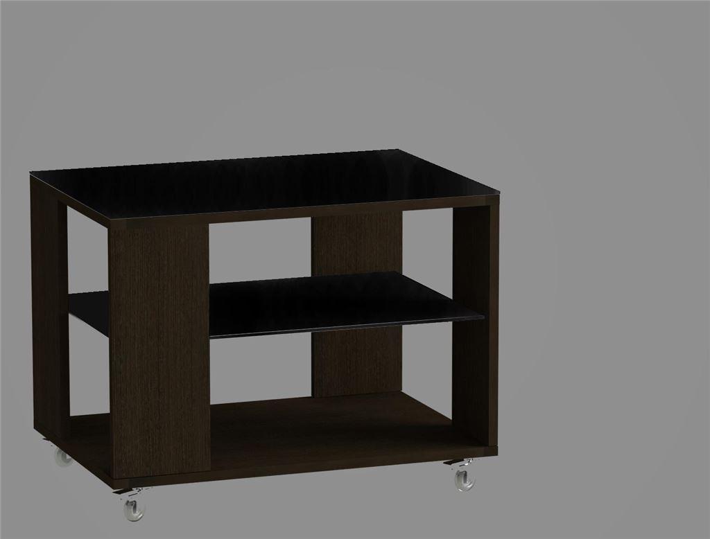 Стол журнальный 733 LS (Венге/Черное стекло)
