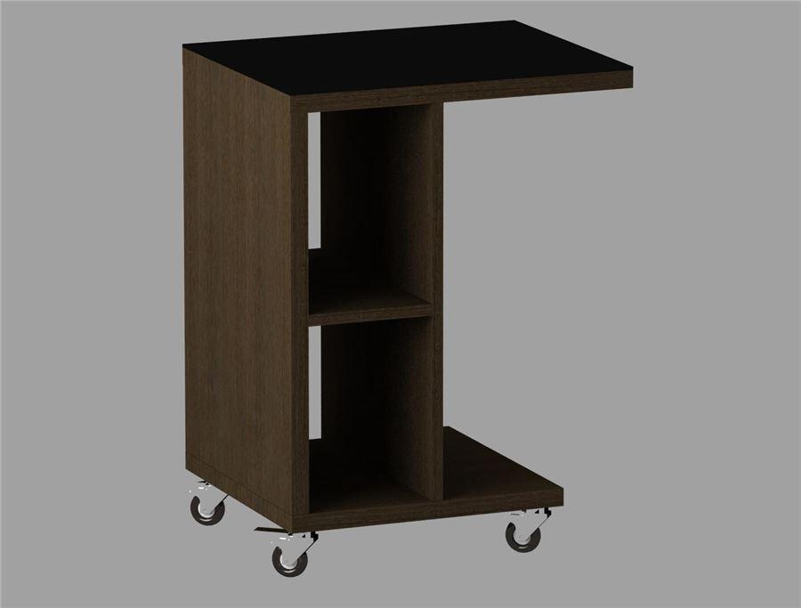 Стол журнальный 741 LS (Венге/Черное стекло)