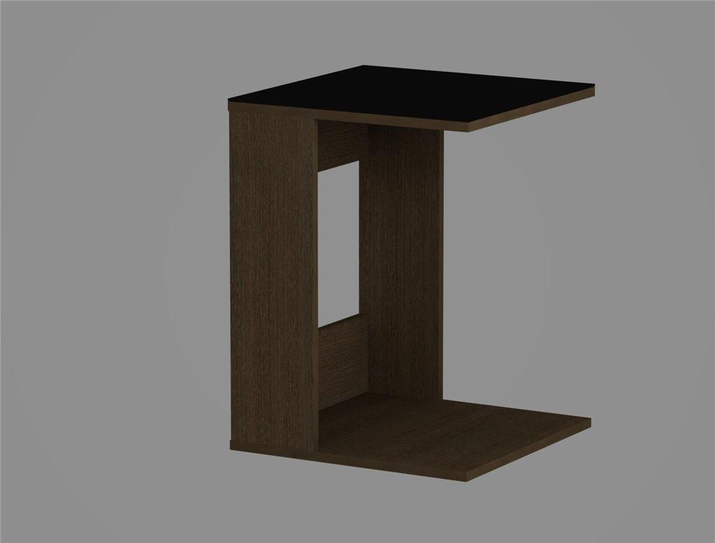Стол журнальный 731 LS (Венге/Черное стекло)