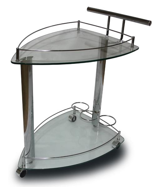 5068-CG SC Столик сервировочный (Хром, стекло) 2-Й СОРТ