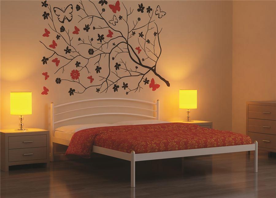 Кровать односпальная ЭКО+ (90х200/металлическое основание) Коричневый бархат