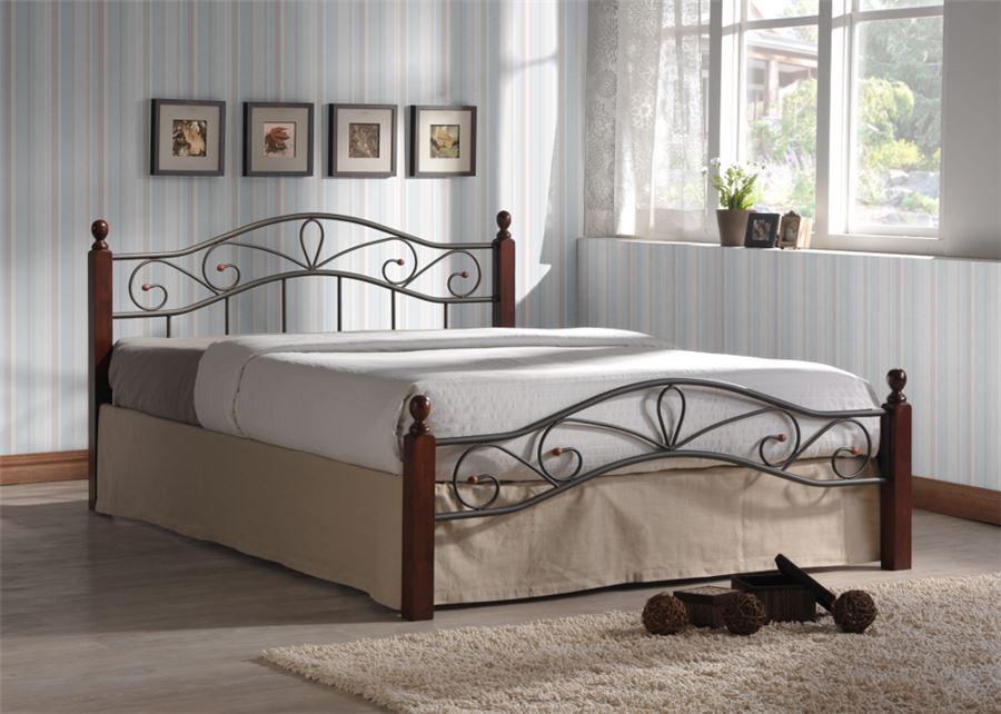 Двуспальная кровать Глэдис М (160х200) (коричневый бархат)